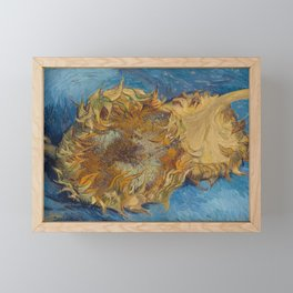 Two Cut Sunflowers by Vincent van Gogh, 1887 Framed Mini Art Print