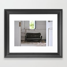 Abandoned place stanza Framed Art Print