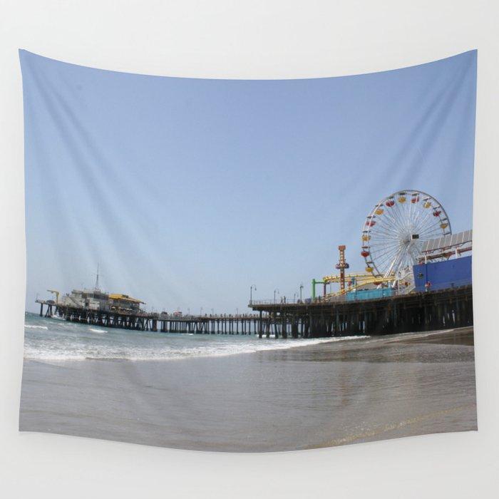 Santa Monica Pier Wall Tapestry