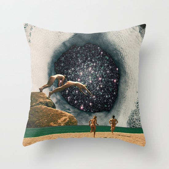 Catch the Wormhole of 3:45 PM Throw Pillow