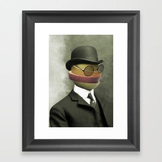Bowler fruit Framed Art Print