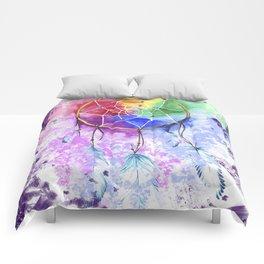 """dreamcatcher """"purple night"""" Comforters"""