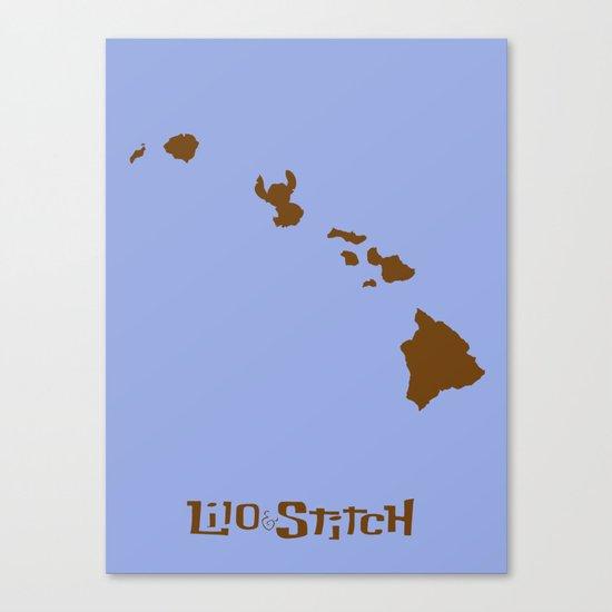 Lilo and Stitch Canvas Print