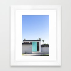 Turquoise Door, Palm Springs Framed Art Print