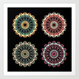Four Southwest Inspired Mandalas Art Print