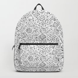 Roll the Dice in White Backpack