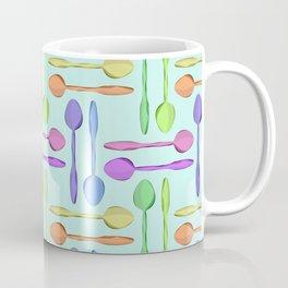Colorful Spoons Print Coffee Mug