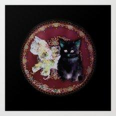 English Kittens Art Print