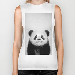 Panda Bear - Black & White Biker Tank