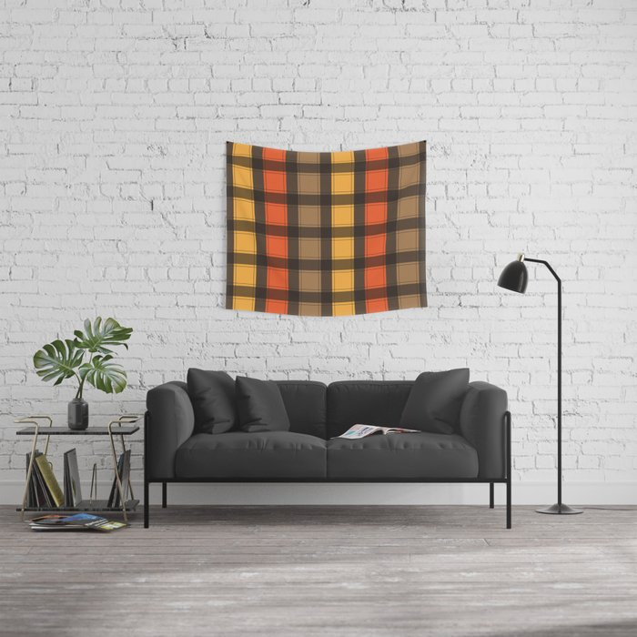 The Fall Plaid Occasion Wall Tapestry