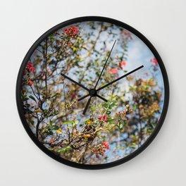 Texas Blooms Wall Clock