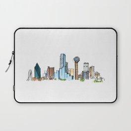 downtown dallas skyline Laptop Sleeve
