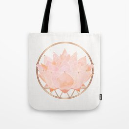 Blush Zen Lotus ~ Metallic Accents Tote Bag
