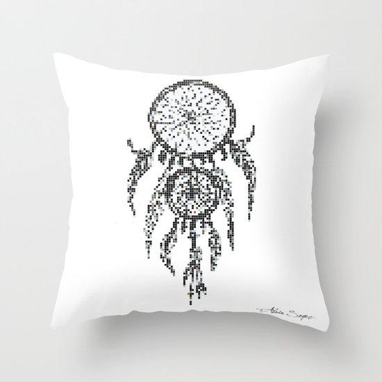 Dreamcatcher Pixel Art Throw Pillow