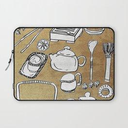 Chinese Tea Doodle 1 Laptop Sleeve