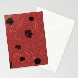 Poppy Red Pattern MT Stationery Cards