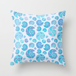 Sea shells pattern pastels #3 Throw Pillow