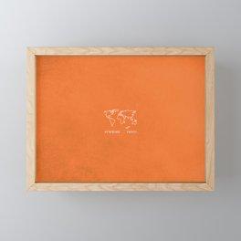 Adventure Map - Retro Orange Framed Mini Art Print