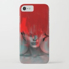 Red Head Woman iPhone 7 Slim Case