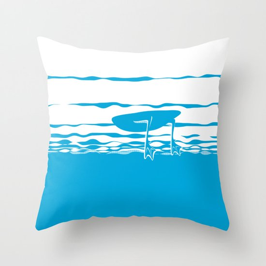 Partly Ducky Throw Pillow