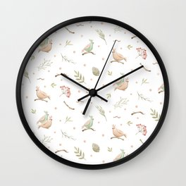 Simple bird pattern Wall Clock