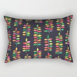 Colourful Watercolor Plants Rectangular Pillow