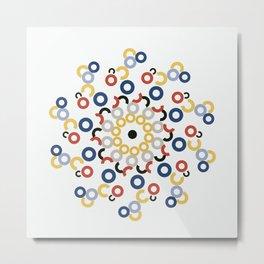 Mondriaan Mandala Metal Print