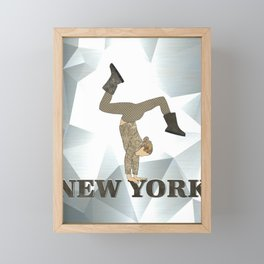 Gymnastics New York Framed Mini Art Print