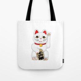 Maneki-Neko Lucky Charm Japanese Cat Tote Bag