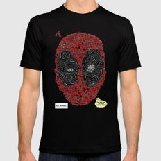 You Missed - Dead-pool Comic Style Portrait Mens Fitted Tee Black LARGE