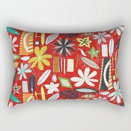 beachy red Rectangular Pillow