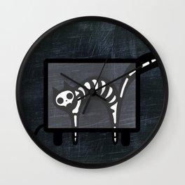 Xray Cat - Skeleton Kitty Wall Clock
