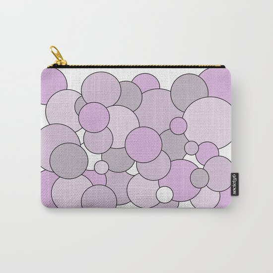 Bubbles - purple, gray and white. Carry-All Pouch