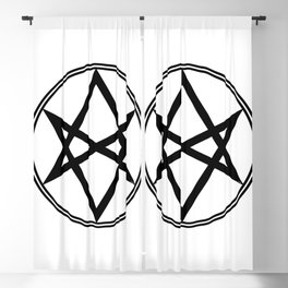Men of Letters Symbol Black Blackout Curtain