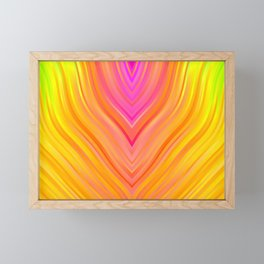 stripes wave pattern 3 stdi Framed Mini Art Print