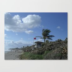 Atlantic Beach Scene, Jupiter, FL 2013 Canvas Print
