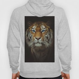 Wild Tiger with Blue eyes Hoody