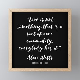 23 |  Alan Watts Quote 190516 Framed Mini Art Print