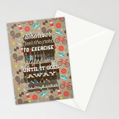 Exercising... Stationery Cards