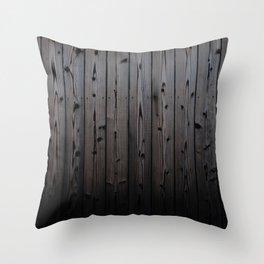 Silvered Slats Throw Pillow