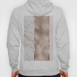 Rose metallic striping - marble and blush Hoody