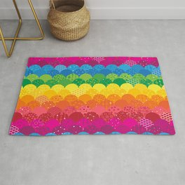 Waves of Rainbows Rug