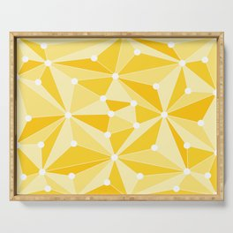 Abstract geometric pattern - orange and white. Serving Tray