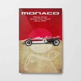 Monaco Racetrack Vintage Metal Print