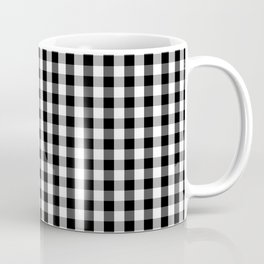 Classic Black & White Gingham Check Pattern Coffee Mug