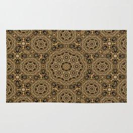 Mosaic tiles in brown Rug