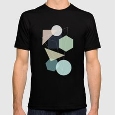 Graphic 113 Black Mens Fitted Tee SMALL