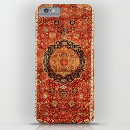 Seley 16th Century Antique Persian Carpet Print iPhone Case