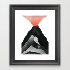 Man & Nature - The Vulcano Framed Art Print