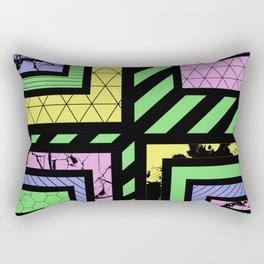 Pastel Corners (Abstract, geometric, textured designs) Rectangular Pillow